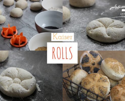 Kaiser Rolls made with breadstamps