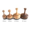 Wood Bread Stamps with steel pins in different sizes and patterns used to bake Flat Bread or Non bread. Handcrafted imported from Uzbekistan