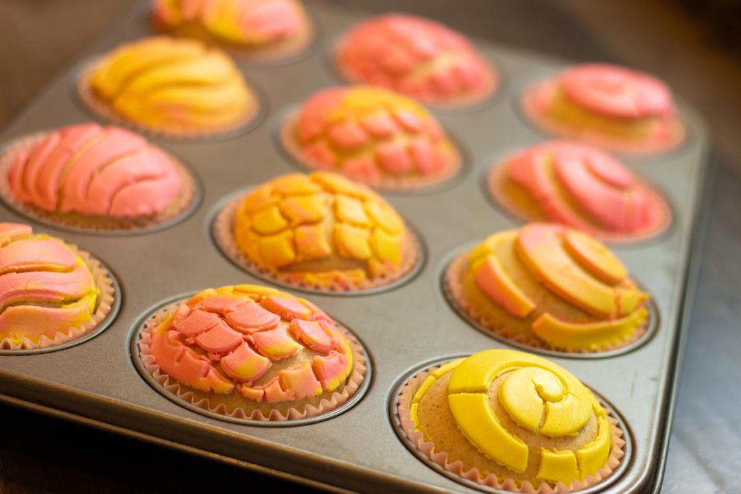 Manteconchas aka Concha Cupcakes Video recipe