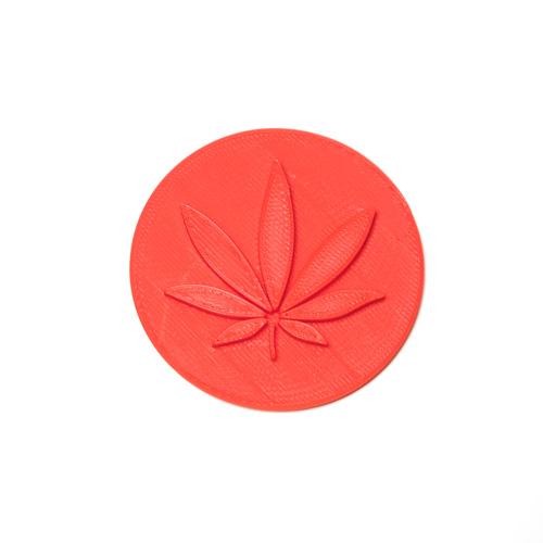 """3"""" Marijuana Fondant Stamp"""