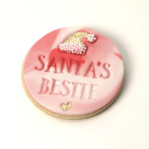 Santa's Bestie Christmas Cookie Fondant Embossing Stamp