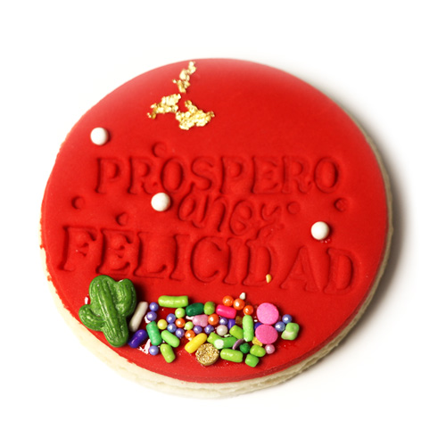 "3"" Feliz Navidad Sombrero Fondant Embossing Stamp for"