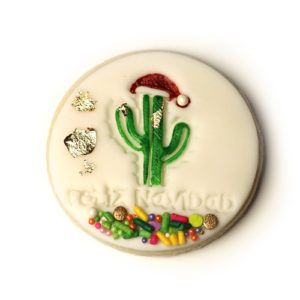 "3"" Feliz Navidad Fondant Embossing Stamp for Cookies"