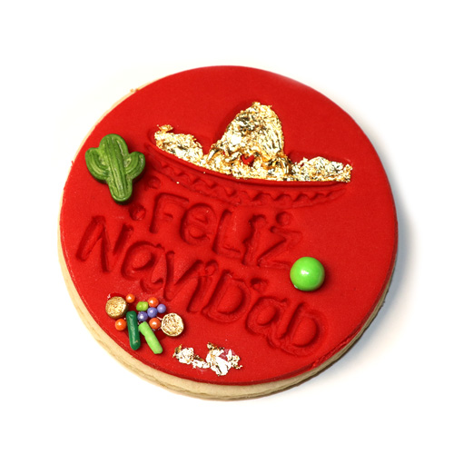 "3"" Feliz Navidad Fondant Embossing Stamp for Cookies"