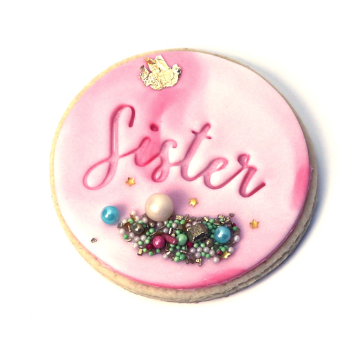 Baby shower Cookie Fondant Embossing Stamp Sister