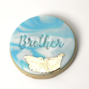 Baby shower Cookie Fondant Embossing Stamp Brother