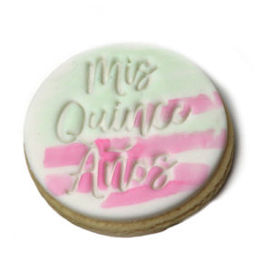 Mis Quince Años Cookie embossing ctamp