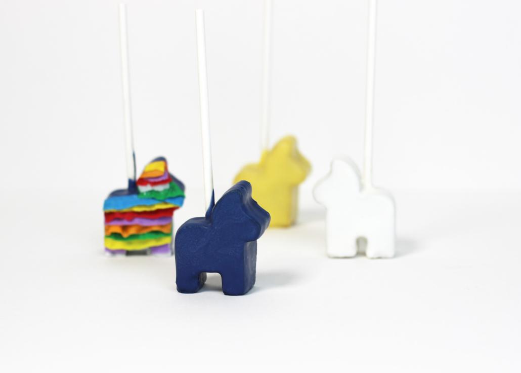 donkey pinata cakepop stamp for fiesta cakepops