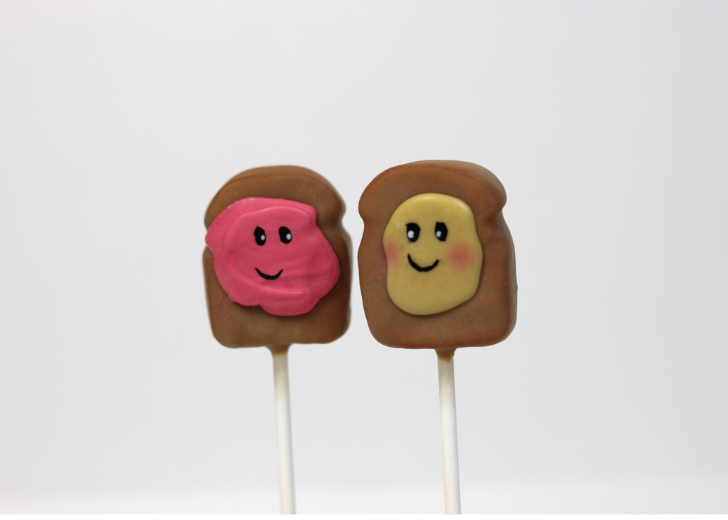 we belong together like peanut butter and jelly cakepops