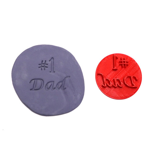 happy fathers day fondant cookie stamp