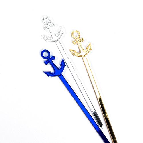 Acrylic Cake Pop Sticks with Anchor
