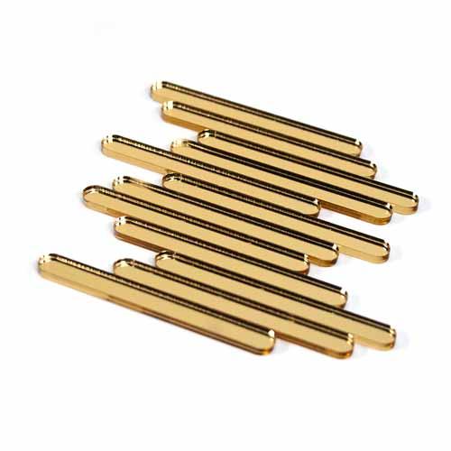 Gold Mirror Acrylic Cakesicle Sticks Mini