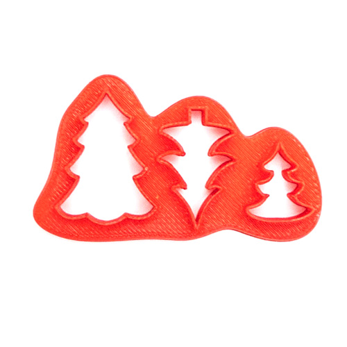 mini christmas tree fondant cutters