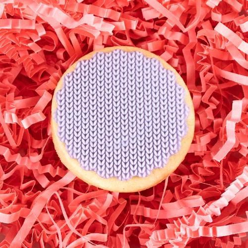 micro knit pattern acrylic fondant stamp
