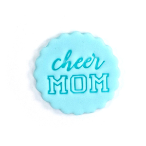 cheer mom fondant stamp