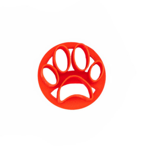 mini concha stamp with paw print