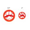 mini concha stamp with paw print