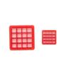 "3.5"" waffle pattern concha stamp"