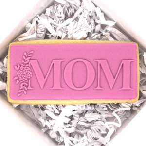 MOM Mother's Day Fondant Stamp
